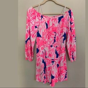 Lilly Pulitzer Off The Shoulder Romper